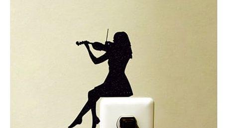 Samolepka houslistky nad vypínač nebo zásuvku