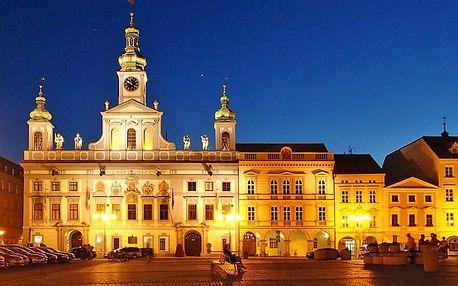Pobyt v jižních Čechách v srdci Českých Budějovic se snídaněmi – platnost až do prosince