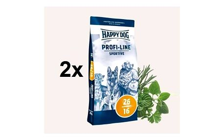 Granule HAPPY DOG Profi-Line SPORTIVE 26/16 - 2 x 20 kg + Doprava zdarma