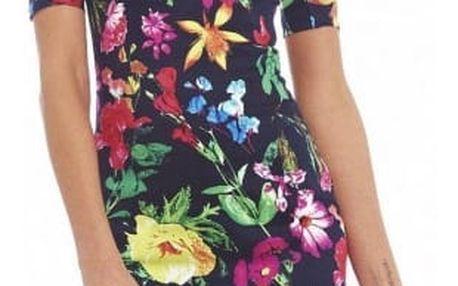 Bohatě zdobené šaty s krátkým rukávem - Slonovinová - vel. 5