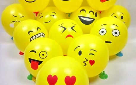 Nafukovací balonky Emoji 20 ks
