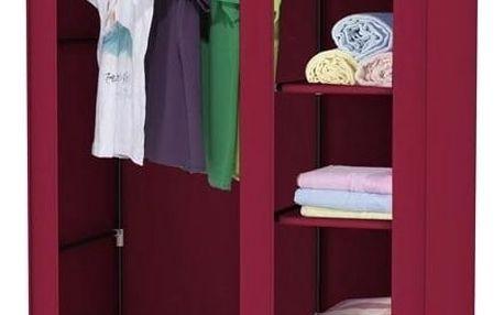 Červená textilní skříň na šaty Jocca, 178x108cm - doprava zdarma!