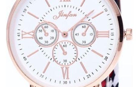 Dámské hodinky se zajímavým páskem - 3 barvy
