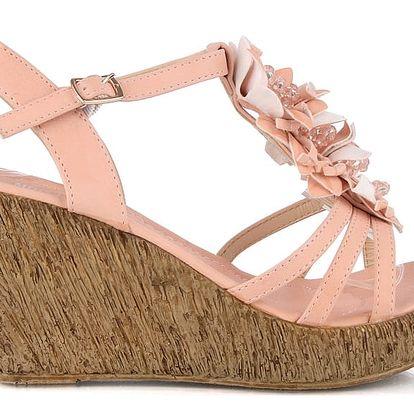Sandálky na klínku MD7095-3PI 37