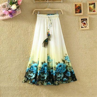 Lehká dlouhá letní sukně - varianta 16