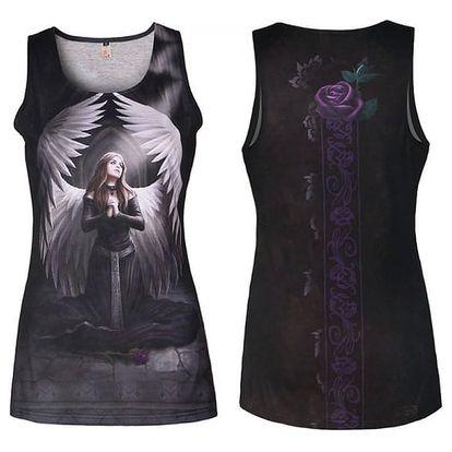 Dámské tílko s gotickým potiskem - černé, vel. 4