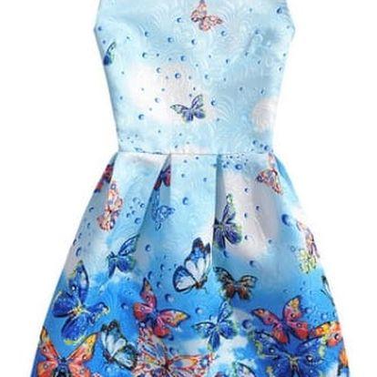 Nádherné dámské vintage šaty s různými motivy - Varianta 9, velikost 3