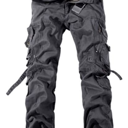 Pánské kalhoty s kapsami - šedé, vel. 11