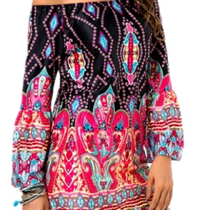 Bohémské letní šaty - Model 1) / Velikost 2