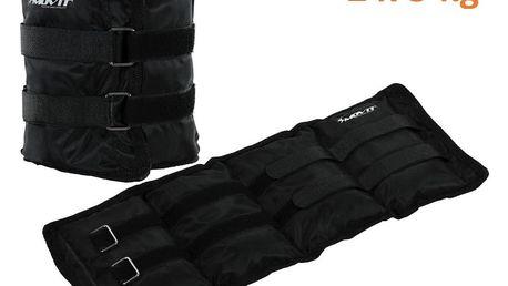 MOVIT zátěžové manžety, 2 x 3,0 kg černá