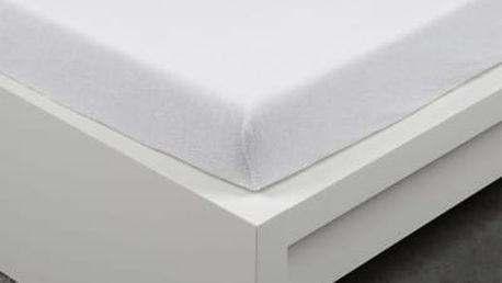 XPOSE ® Froté prostěradlo Exclusive - bílá 120x200 cm