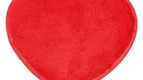 Kobereček ve tvaru srdce 40 x 30 cm - červený