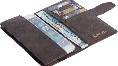 Krusell univerzální knížkové pouzdro vargon peněženka 3XL, hnědá - LCSKRVAUNI3XLBR