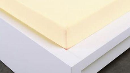 XPOSE ® Jersey prostěradlo Exclusive dvoulůžko - vanilková 200x220 cm