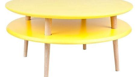 Žlutý konferenční stolek Ragaba UFO,⌀70cm - doprava zdarma!