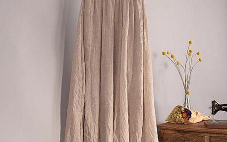 Vzdušná lněná sukně v béžové barvě - dodání do 2 dnů