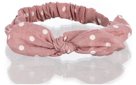 Fashion Icon Puntíkovaná čelenka - šátek puntikatá