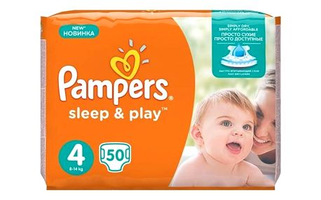 Plenky Pampers Sleep&Play , 4 maxi, 50 ks