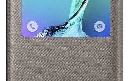 Samsung flipové pouzdro S View pro Galaxy S6 edge+ (SM-G928F), zlatá - EF-CG928PFEGWW