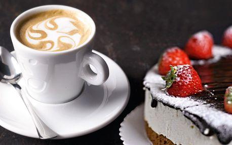 Stylová kavárna na Smíchově: nápoj a cheesecake