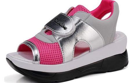 Dámské turistické sandále na suchý zip - Růžová - 24,5 cm (vel. 39)