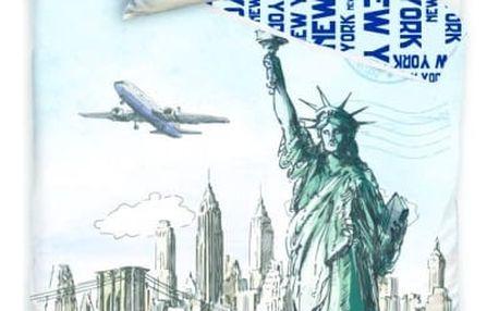 Jerry Fabrics Bavlněné povlečení NEW YORK - STATUE OF LIBERTY 140x200 70x90