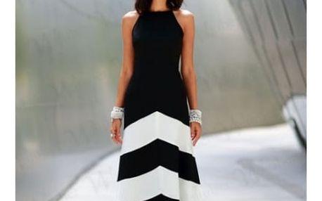 Pruhované maxi šaty - velikost č. 1 - 6