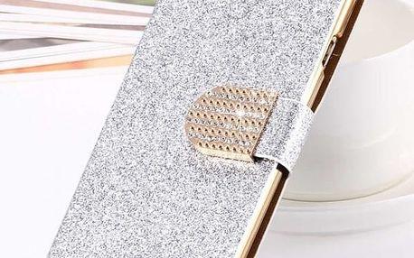 Třpytivý obal - Stříbrná-pro iphone 5 5s
