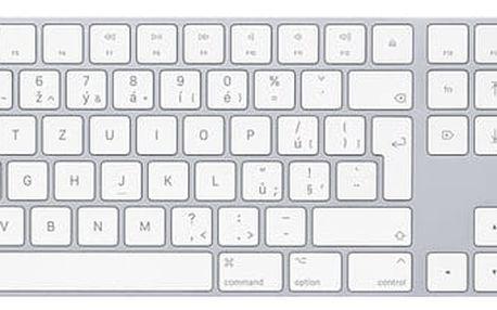 Apple Magic Keyboard s numerickou klávesnicí, bluetooth, stříbrná, CZ - MQ052CZ/A