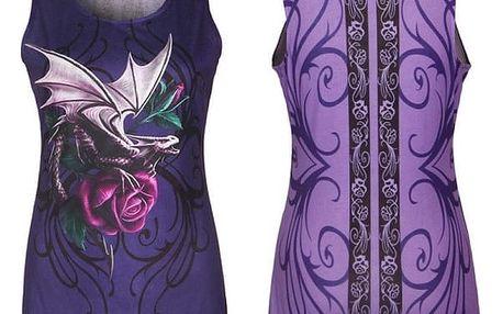 Dámské tílko s gotickým potiskem - fialové, vel. 4