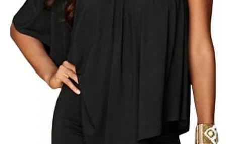 Stylové šaty v originálním designu - Černá - velikost č. 2