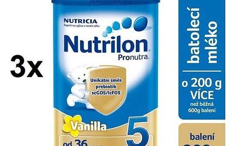 Kojenecké mléko Nutrilon 5 Pronutra Vanilka, 800g x 3ks + Doprava zdarma