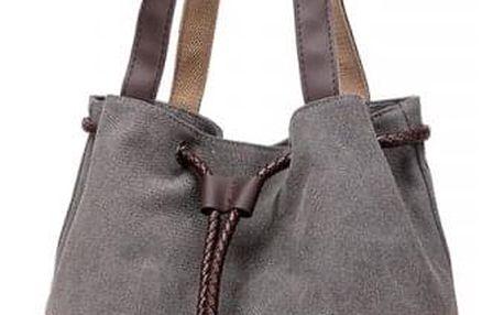 Taška přes rameno s abstraktním květinovým motivem - šedá - dodání do 2 dnů