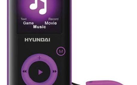 MP3 přehrávač Hyundai MPC 883 GB16 FM P černý/fialový