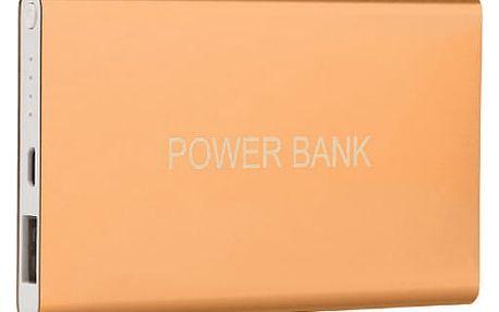 Ultra tenká powerbanka 12000 mAh - zlatá barva