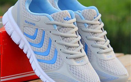 Dámské sportovní botasky - Světle šedá - 25,4 cm (vel. 40)