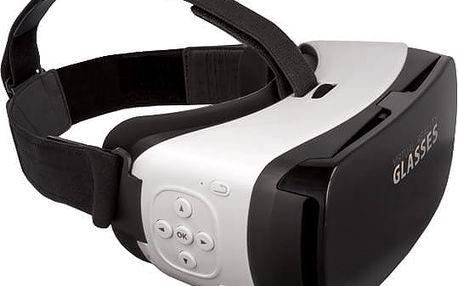 Forever VRB-300 3D brýle s tlačítkem, bílá - HAPPY-3D-VRB300