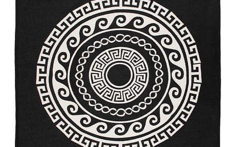 Oboustranný béžovočerný koberec Home De Bleu Mandala, 160x250cm - doprava zdarma!