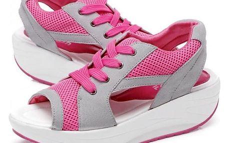 Dámské sandály na cestování - Růžová - vel. 39