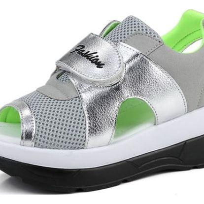 Dámské turistické sandále na suchý zip - Zelená - 23 cm (vel. 36)