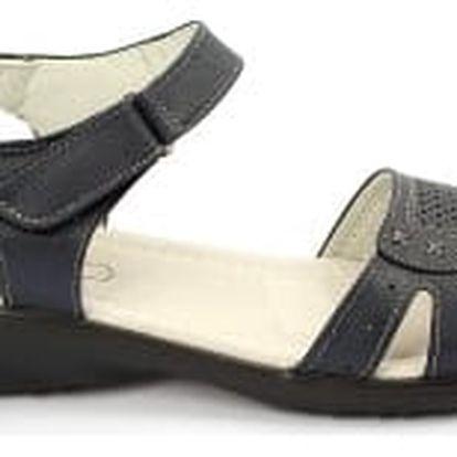 Kvalitní dámské zdravotní sandále s koženou stélkou NORN 3 modré