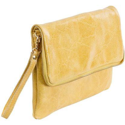 Žlutá kabelka z pravé kůže Andrea Cardone Cobalto - doprava zdarma!