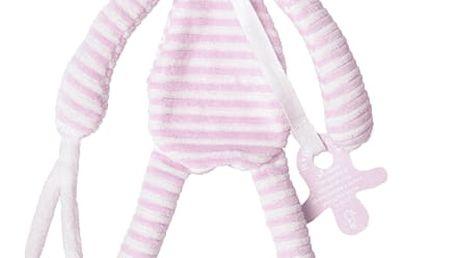 HAPPY HORSE Růžový pruhovaný králíček Reece Přítulka, 30 cm