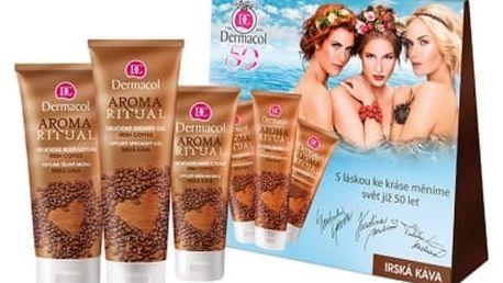 Dermacol Aroma Ritual Irish Coffee dárková kazeta pro ženy sprchový gel 250 ml + tělové mléko 200 ml + krém na ruce 100 ml