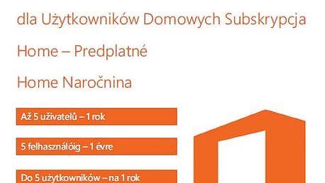 Microsoft Office 365 pro domácnosti 1 rok, bez média - kartička Leporelo MultiL