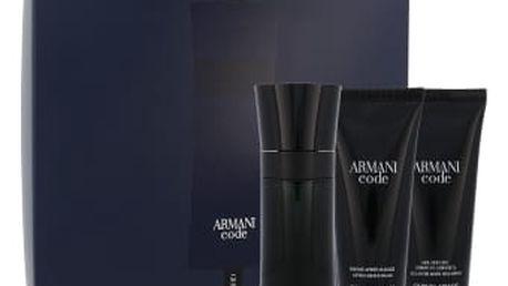 Giorgio Armani Armani Code Pour Homme dárková kazeta pro muže toaletní voda 75 ml + balzám po holení 75 ml + sprchový gel 75 ml