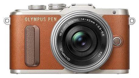 Digitální fotoaparát Olympus PEN E-PL8, hnědá