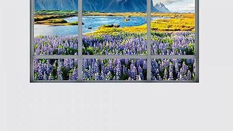3D samolepka na zeď - Okno s nádherným výhledem - 5 variant