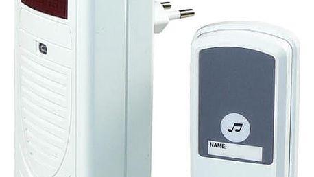 Zvonek bezdrátový EMOS 98080S, do zásuvky, 60m (98080S) bílý
