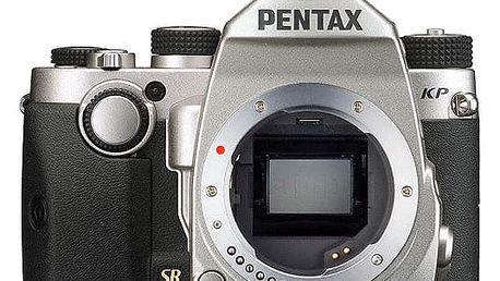 PentaxKP, tělo, stříbrná - 16037 + Objektiv Pentax DA 35mm F2.4 AL v ceně 4690 Kč